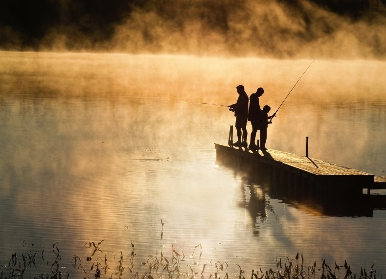 Fishermen in Morning Mist